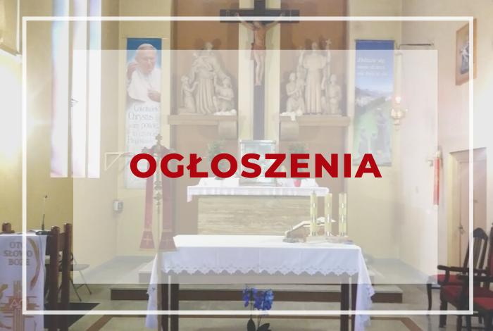 OGŁOSZENIA PARAFIALNE IV Niedziela Wielkiego Postu 14.03.2021 r.